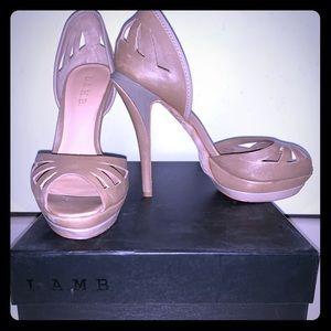 L.A.M.B. Quincy D'Orsay Heels Size 7.5